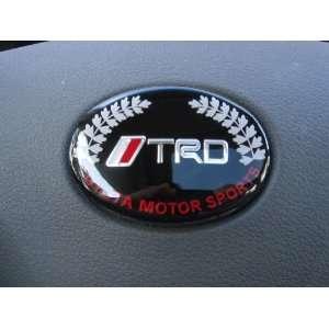 Toyota TRD Black Steering Wheel Emblem Automotive