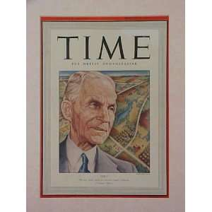 Henry Ford March 17 1941 Time Magazine Fabulous Beautiful Condition