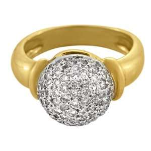 18kt Yellow Gold Diamond Dome Ring (.55 ct. tw.) Gregg Ruth Jewelry