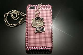 Pink Crystal Hello Kitty Hard Case Cover for iPhone 4GS