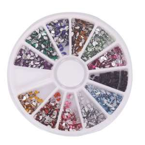 Pcs Comma Nail Art Nailart Manicure Glitter Tips Rhinestone Wheel Kit