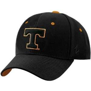 Tennessee Volunteers Black Fadeout II Fitted Hat