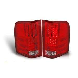 Chevy Silverado Led Tail Light   Red / Clear Performance