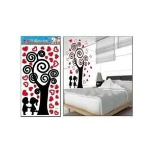 Large Boy & Girl Silhouette Wall Stickers Decals