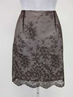 MARCH BY CHRISTINA PERRIN Dark Brown Lace Skirt Sz 6