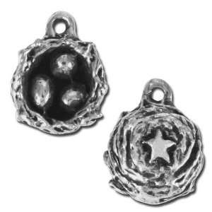 10mm Green Girl Birds Nest Pewter Charms Arts, Crafts