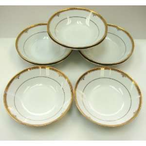 Noritake Fine China BUCKINGHAM GOLD #4346 COUPE SOUP BOWLS
