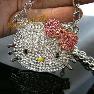 HOT Fashion cute hello kitty Crystal necklace gift A2