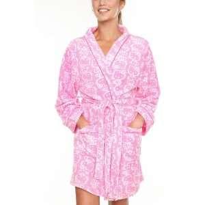 Hello Kitty Pink & White Soft Plush Bath Robe Size Large