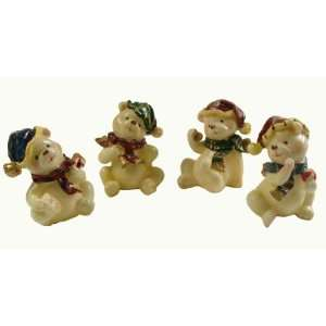 Club Pack of 120 Classic Christmas Bear Figures 4