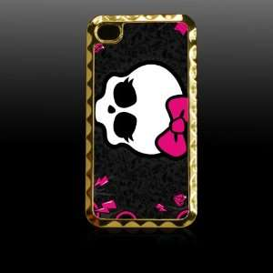 Monster High Printing Golden Case Cover for Iphone 4 4s Iphone4 Fits