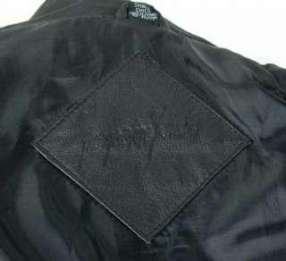 JAQUELINE FERRAR Womens Ladies Black LEATHER Coat Jacket size S