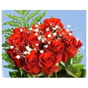 14 Dozen Red Roses & Fillers:  Grocery & Gourmet Food