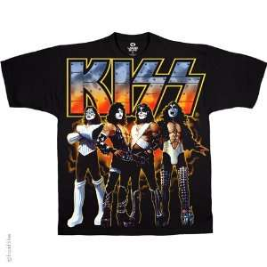 Kiss Love Gun T Shirt (Black), XL  Sports & Outdoors