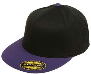 ® 210 Premium Flatbill Blank Fitted Flat Bill Cap Hat 6210T