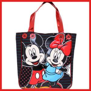 Disney Mickey & Minnie Mouse Leather Tote Bag Loungefly