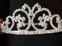 Wedding Veil Tiara Swarovski Crystal Bridal Crown Pageants Prom