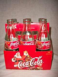 1998 Coca Cola Coke Christmas Collectors Edition 6 Pack Bottles