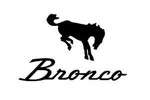 FORD BRONCO with HORSES DECAL STICKER SET*   6.25 Tall
