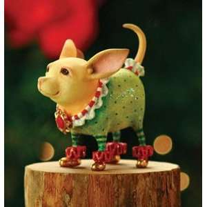 Patience Brewster Krinkles Chihuahua Dog Christmas Ornament