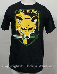 Authentic METAL GEAR SOLID MGS Foxhound Logo T Shirt S M L XL XXL NEW