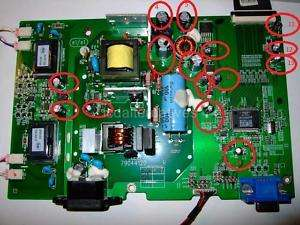 Repair Kit, DELL E176FPf LCD Monitor, Capacitors 729440707750