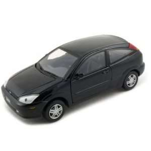 Ford Focus ZX3 Diecast Car Model 1/24 Black Motormax Toys