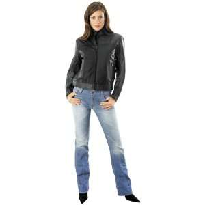 RIVER ROAD WOMENS PECOS LEATHER AND MESH JACKET (XX LARGE
