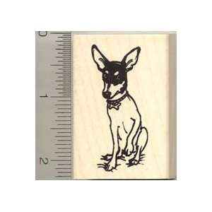 Toy Fox Terrier Dog Rubber Stamp   Wood Mounted Arts