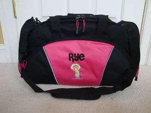 Personalized Duffel Bag Ski Skiing Skier Girls Kids