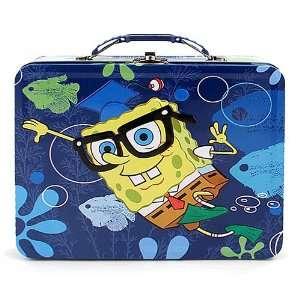 Blue SpongeBob SquarePants Tin Tote Carryall Toys & Games