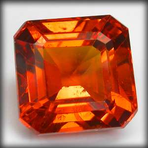 90 CT. 100% NATURAL EMERALD CUT FANTA MANDARIN ORANGE RED