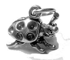 Silver Animal Cartoon Ladybug Pendant Charm Jewelry bug