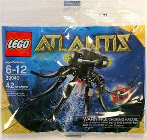 LEGO Atlantis Octopus & Red Key Polybag Set 30040 NEW 673419140102