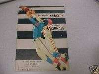 1960 ST. LOUIS CARDINALS FOOTBALL FIRST GAME PROGRAM