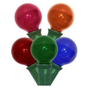 Light G30 Candelabra Screw Base Green Wire Multi Color Christmas Light