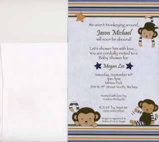 adorable baby shower invitations match the cocalo monkey mania nursery