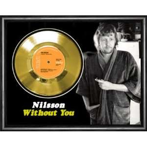 Nilsson Without You Framed Gold Record A3 Musical