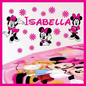 Name MINNIE MOUSE Vinyl Wall Decals Stickers Art #026