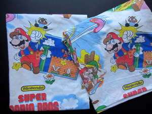 Vtg 1988 Nintendo Super Mario Bros Zelda Twin Flat Bed Flat Sheet