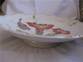 Antique Rosenthal Serving Bowl dramatic floral Selb Germany Godesberg