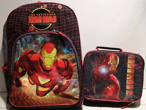 SET IRON MAN BACKPACK & LUNCH BAG Book Kit Box School |