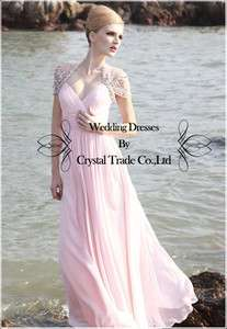 2012 Glamorous Pink Wedding Bridal Gown Bridesmaid Formal Evening