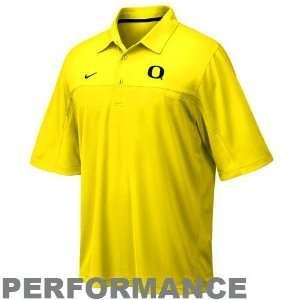 Nike Oregon Ducks Yellow NikeFIT Performance Polo: Sports