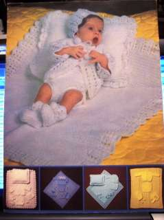 Leisure Arts 0125 BABY LAYETTES knit crochet