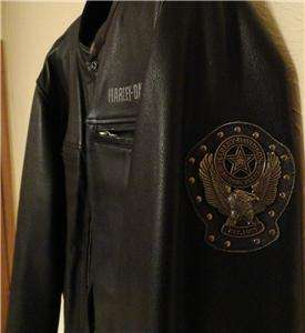 Harley Davidson Leather Jacket New Orleans 97081 03VM Large