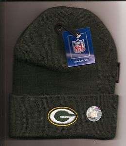 New NFL Green Bay Packers Youth Ages 4 7 Heavy Knit Reebok Beanie