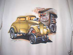 33 WILLY GASSER T SHIRT NEW RATROD HOTROD OLD SCHOOL