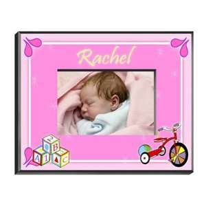 Personalized Girls Wood Block Frame: Home & Kitchen