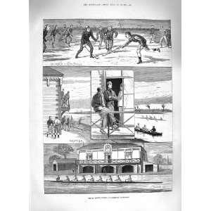 1883 PRINCE ALBERT VICTOR CAMBRIDGE UNIVERSITY HOCKEY
